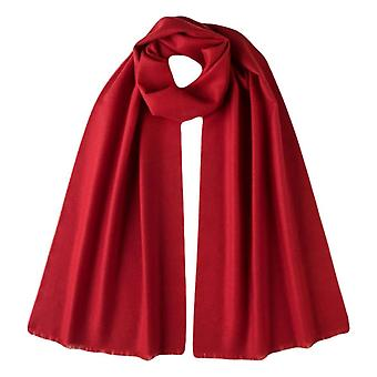 Johnstons of Elgin Extra Fine Merino Wool Scarf - Classic Red