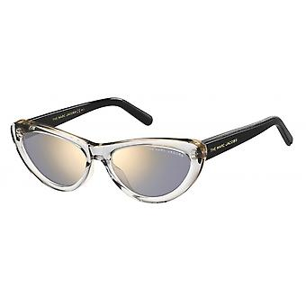Sunglasses women butterfly black/transparent/silver
