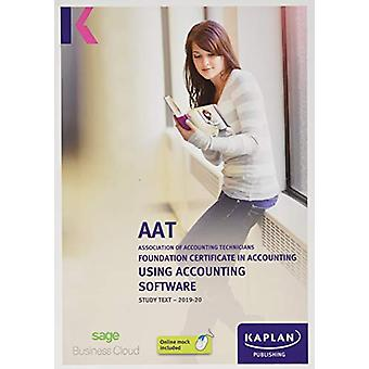 USING ACCOUNTING SOFTWARE - STUDY TEXT by KAPLAN PUBLISHING - 9781787
