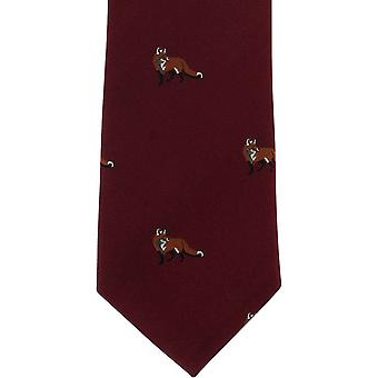 Michelsons de Londres Fox seda gravata - vinho