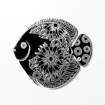 Floral Flower Fish Acrylic Mirror