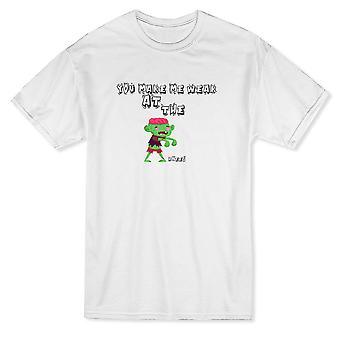 Du machst mich schwach in den Knien Zombie Grafik Herren T-shirt