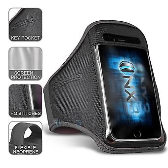 eple iPhone XR XXlarge grå sport armbånd vanntett fitness telefon tilfelle