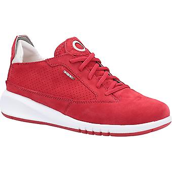 Geox Womens D Aerantis A Lace Up Trainer Rouge