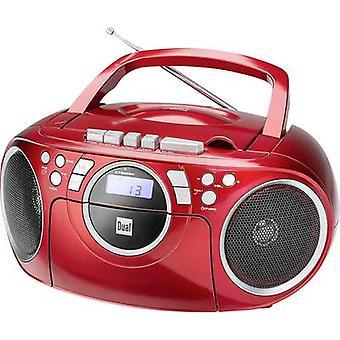 Dual P 70 Radio CD-speler FM AUX, CD, Tape Red