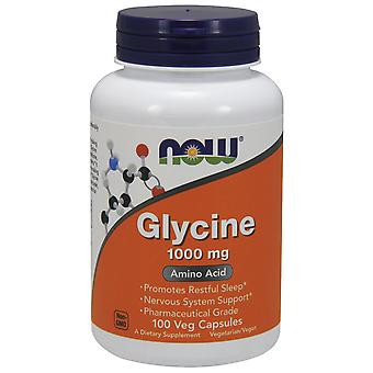 Now Foods Glycine 1000 mg 100 Capsules Vegetables
