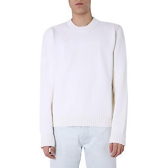 Maison Margiela S50gp0212s16967101 Men's White Cotton Sweater