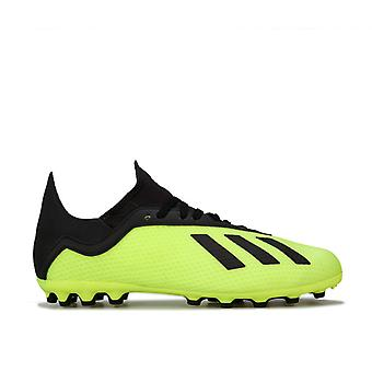Boy's adidas Junior X 18.3 AG Football Boots in Yellow