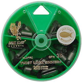 Eagle Claw Steel Twist-Lock Sinkers Dial Pack