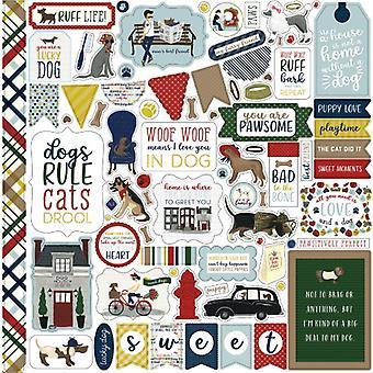 Echo Park En hund's Svans 12x12 Tums Element Klistermärke