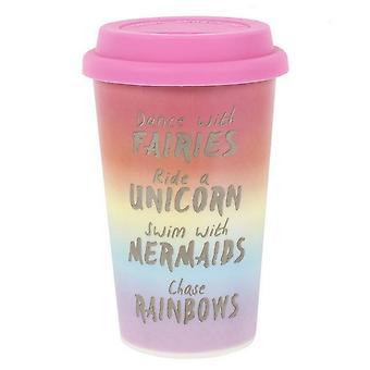 Iets anders Rainbow metalen thermische Travel Mug
