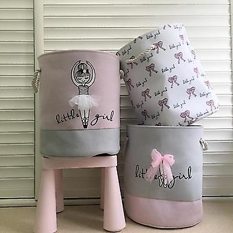 Barrel Clothing Folding Toys Large Storage Laundry Basket For Dirty Clothes Washing Organization
