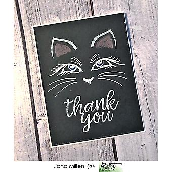 Picket Fence Studios Cali Kitten Clear Stamps