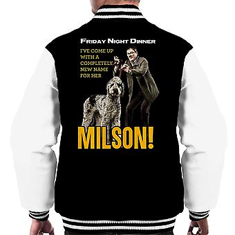 Friday Night Dinner Naming Milson Men's Varsity Jacket