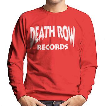 Death Row Records Logo witte mannen Sweatshirt