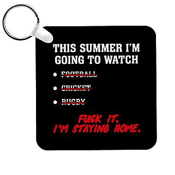 Cet été Im Going To Watch Sport Keyring
