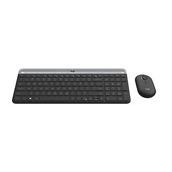 Logitech Mk470 Slim Wireless Keyboard And Mouse Combo 2Ghz Graphite