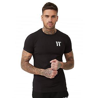 Onze degrés 11 degrés 11d-006-001 Core Half Sleeve T-shirt - Noir