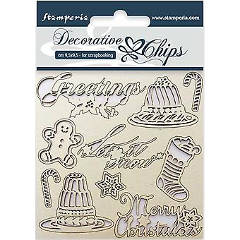 Stamperia Decorative Chips Classic Christmas