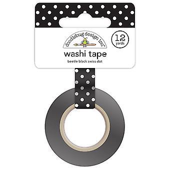 Doodlebug Design Beetle Black Swiss Dot Washi Tape