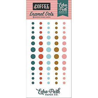 Echo Park Kaffee Emaille Punkte