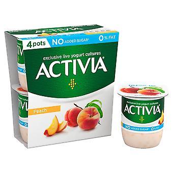 Activia Fat Free Peach Yogurts