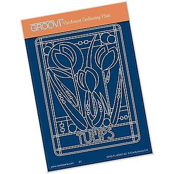 Groovi Art Nouveau Tulipes A6 Groovi Plaque