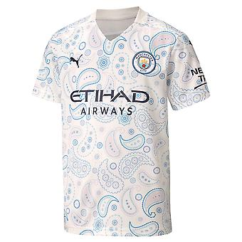Puma Manchester City 2020/21 Kids Short Sleeve Third Football Shirt White
