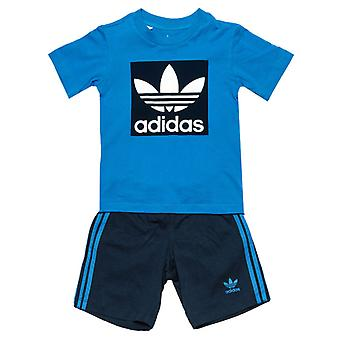 Boy's adidas Originals Baby T-Shirt and Shorts Set in Blue