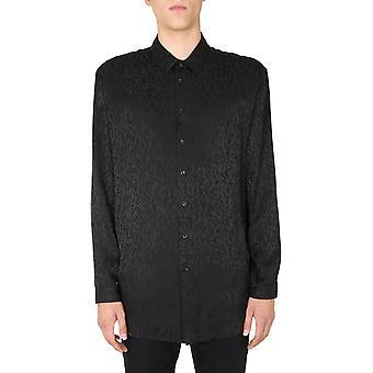 Saint Laurent 626831y2b191000 Men's Black Silk Shirt