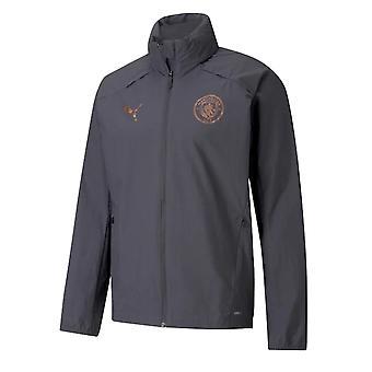 2020-2021 Manchester City Puma Rain Jacket (Asphalt)