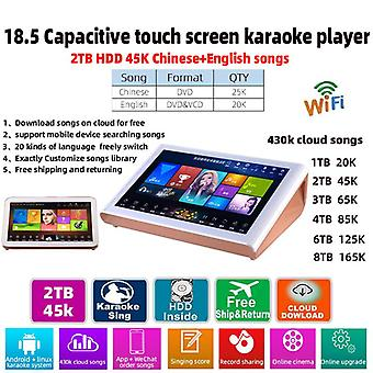 18.5 Capacitive Home -screen System  2tb Hdd 45k Chinese-english-songs 430k Cloud-songs