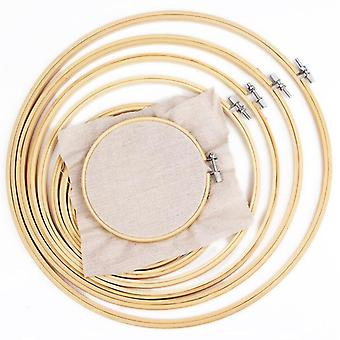 Cross Stitch Wooden Frame Hoop Circle Borday Shed - Diy Hand Craft Sewing