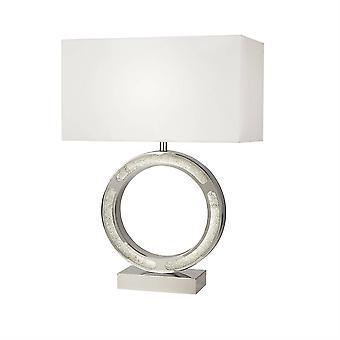 1 Lampe de table lumineuse Chrome, Blanc, E27