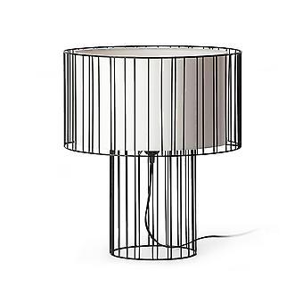 Faro Linda - 1 Leichte Tischleuchte Weiß, Schwarz, E27