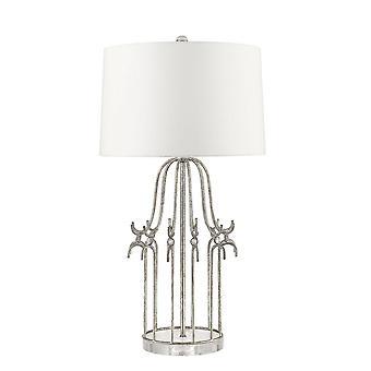 Elstead Stella - 1 Lampe de table légère Argent, E27