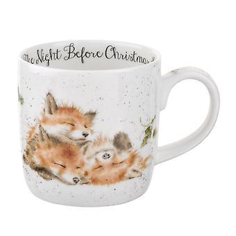 Koninklijke Worcester Wrendale nacht vóór Kerstmis Fox Single mok