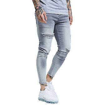 SikSilk Distressed Skinny Jeans - Washed Grey