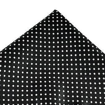 Γραβάτες Πλανήτης Μαύρο & Λευκό Polka Dot Τσέπη Τετράγωνο Μαντήλι