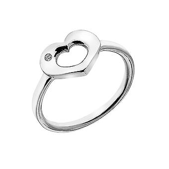 Kuuma timantteja esiin avoin sydän sormus DR161