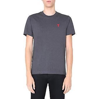 Ami H20hj108723055 Männer's grau Baumwolle T-shirt