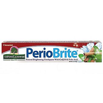Nature'answer Perio Brite Toothste, Cinnamint 4 OZ