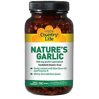 Country Life Nature's Garlic, 500 MG, 180 Sftgls