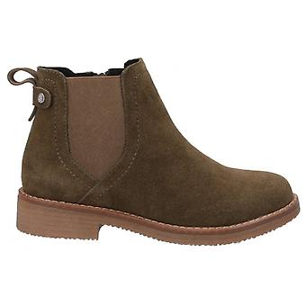 Hush Puppies Maddy Ladies Suede Ankle Boots Green