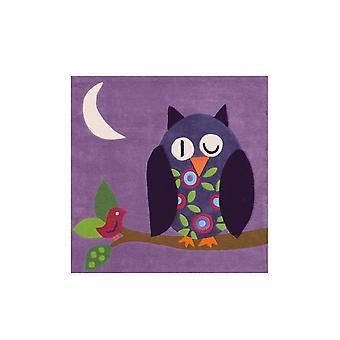 Joy Matta 4049 Violett Uggla 130x130cm