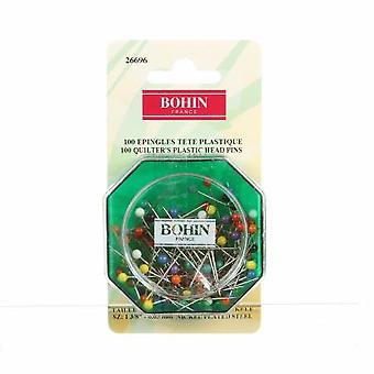 Bohin 1 1/4in Color Ball Head Extra Long Pin Size 20 100ct