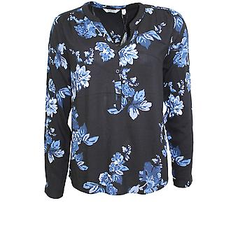 b.young Henna Blue Floral Blouse