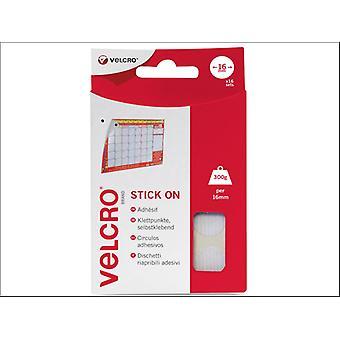 Klittenband® Stick op munten 16mm x 16 Sets 60227
