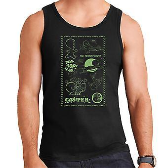 Casper The Friendly Ghost Pop Zop Slam Stamp Men's Vest