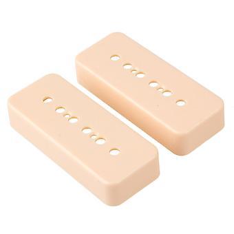2PCS P90 SoapBar Pickup Cover voor Guitar Pickup Cream-color